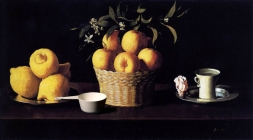 Still-life with Lemons, Oranges and Rose and Deciliter