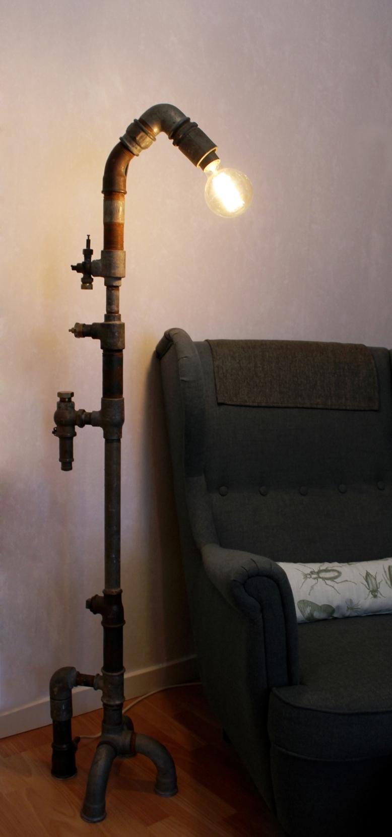 Pipe lamp floor Madelen Rensmo